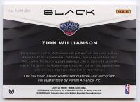 Zion Williamson 2019-20 Panini Black Rookie Memorabilia Autographs #1 RC #42/49 at PristineAuction.com