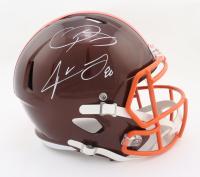Odell Beckham Jr. & Jarvis Landry Signed Browns Full-Size Flash Alternate Speed Helmet (Beckett Hologram) at PristineAuction.com