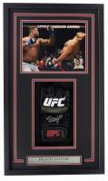 Francis Ngannou Signed 16x26 Custom Framed UFC Glove Shadowbox Display (Beckett Hologram) at PristineAuction.com