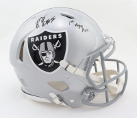 """Henry Ruggs III Signed Raiders Full-Size Authentic On-Field Speed Helmet Inscribed """"1st Vegas Pick"""" (Beckett COA & Fanatics Hologram) at PristineAuction.com"""
