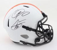 Odell Beckham Jr. & Jarvis Landry Signed Browns Full-Size Lunar Eclipse Alternate Speed Helmet (Beckett Hologram) at PristineAuction.com
