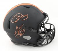 Odell Beckham Jr. & Jarvis Landry Signed Browns Full-Size Eclipse Alternate Speed Helmet (Beckett Hologram) (See Description) at PristineAuction.com