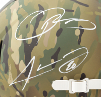 Odell Beckham Jr. & Jarvis Landry Signed Browns Full-Size Camo Alternate Speed Helmet (Beckett Hologram) at PristineAuction.com