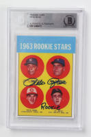 """Pete Rose Signed 1963 Topps #537 RC Inscribed """"Rookie"""" (BGS Encapsulated) at PristineAuction.com"""