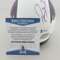 Ray Lewis Signed Ravens Lunar Eclipse Alternate Speed Mini Helmet (Beckett COA & Denver Autographs COA) at PristineAuction.com