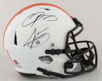 Odell Beckham Jr. & Jarvis Landry Signed Browns Full-Size Lunar Eclipse Alternate Speed Helmet (Beckett Hologram) (See Description) at PristineAuction.com