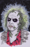 """Tom Hodges - Beetlejuice - Signed ORIGINAL 5.5"""" x 8.5"""" Drawing on Paper (1/1) at PristineAuction.com"""