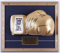 Mike Tyson Signed 14x16 Custom Framed Boxing Glove Display (PSA COA) at PristineAuction.com