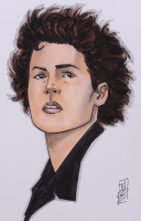 """Tom Hodges - Ripley - """"Aliens"""" - Signed ORIGINAL 5.5"""" x 8.5"""" Drawing on Paper (1/1) at PristineAuction.com"""
