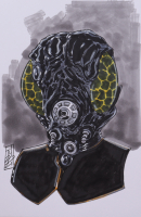 """Tom Hodges - 4-LOM - """"Star Wars"""" - Signed ORIGINAL 5.5"""" x 8.5"""" Drawing on Paper (1/1) at PristineAuction.com"""