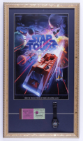 """Disneyworld's """"Star Tours"""" 15x26 Print Display with Vintage Disney World Ticket Book & Ride Opening Watch (See Description) at PristineAuction.com"""