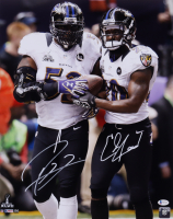 Ray Lewis & Ed Reed Signed Ravens 16x20 Photo (Beckett COA) at PristineAuction.com
