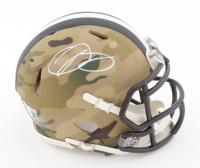 Odell Beckham Jr. Signed Browns Camo Alternate Speed Mini Helmet (Beckett COA) (See Description) at PristineAuction.com