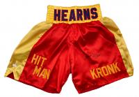 """Thomas """"Hitman"""" Hearns Signed Boxing Shorts (JSA COA) at PristineAuction.com"""