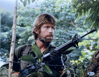 """Chuck Norris Signed """"Missing in Action"""" 11x14 Photo (Beckett COA) at PristineAuction.com"""
