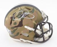 Odell Beckham Jr. Signed Browns Camo Alternate Speed Mini Helmet (Beckett COA) at PristineAuction.com