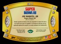Joe Namath 2011 Topps Super Bowl Legends Giveaway Die Cut Autographs #SB1 at PristineAuction.com