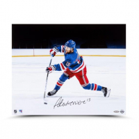 Alexis Lafreniere Signed Rangers 16x20 Photo (UDA Hologram) at PristineAuction.com