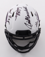 """Vikings """"Purple People Eaters"""" Lunar Eclipse Alternate Speed Mini Helmet Signed by (4) with Carl Eller, Jim Marshall, Alan Page, & Gary Larsen (Beckett COA) at PristineAuction.com"""