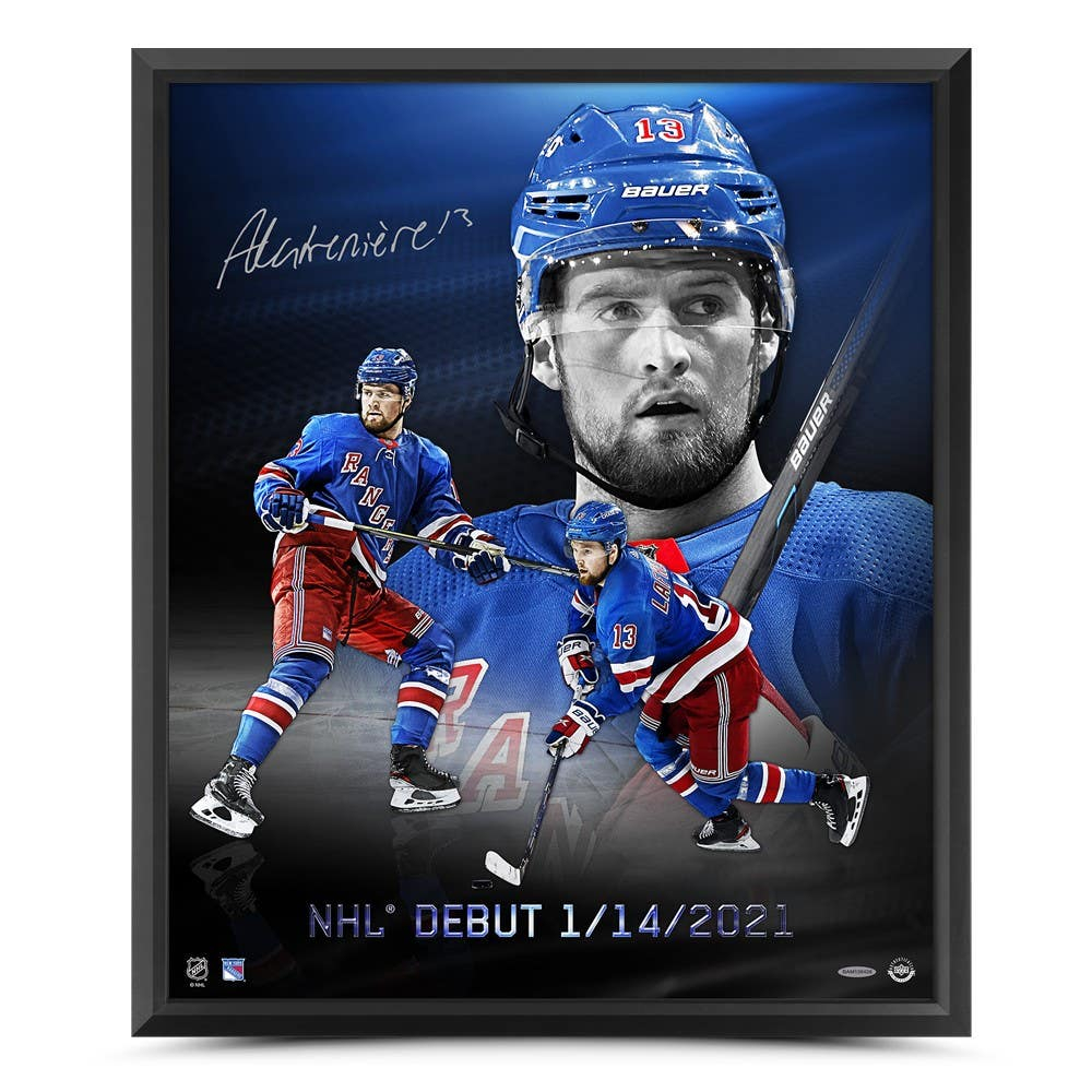 Alexis Lafreniere Signed Rangers 20x24 Custom Framed Photo (UDA Hologram) at PristineAuction.com