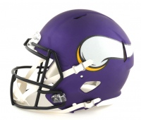 Justin Jefferson Signed Vikings Full-Size Authentic On-Field Speed Helmet (JSA COA) at PristineAuction.com