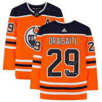 """Leon Draisaitl Signed Oilers Jersey Inscribed """"Hart & Art Ross"""" (Fanatics Hologram) at PristineAuction.com"""