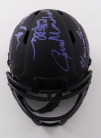 """Vikings """"Purple People Eaters"""" Eclipse Alternate Speed Mini Helmet Signed by (4) with Carl Eller, Jim Marshall, Alan Page, & Gary Larsen (Beckett COA) (See Description) at PristineAuction.com"""