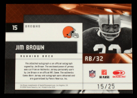 Jim Brown 2009 Limited Jumbo Jerseys Autographs Jersey Number #15 #15/25 at PristineAuction.com