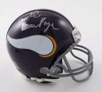 """Vikings """"Purple People Eaters"""" Mini Helmet Signed by (4) with Carl Eller, Jim Marshall, Alan Page, & Gary Larsen (Beckett COA) at PristineAuction.com"""