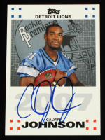 Calvin Johnson 2007 Topps Rookie Premiere Autographs #CJ at PristineAuction.com