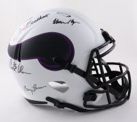 """Vikings """"Purple People Eaters"""" Full-Size Lunar Eclipse Alternate Speed Helmet Signed by (4) with Carl Eller, Alan Page, Gary Larsen & Jim Marshall (Beckett COA) at PristineAuction.com"""