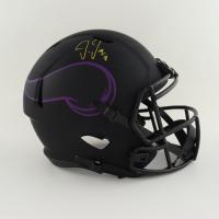 Justin Jefferson Signed Vikings Full-Size Eclipse Alternate Speed Helmet (JSA COA) at PristineAuction.com