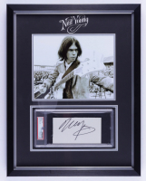 Neil Young Signed 16x20.5 Custom Framed Encapsulated Cut Display (JSA COA) at PristineAuction.com