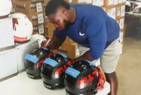 Grady Jarrett Signed Full-Size Authentic On-Field Hydro Dipped Vengeance Helmet (Radtke COA) at PristineAuction.com