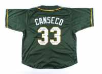 """Jose Canseco Signed Jersey Inscribed """"40/40, 6x All Star, 1988 AL MVP, 462 HR's, 1986 AL ROY"""" (Beckett COA) at PristineAuction.com"""