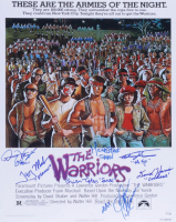 """""""The Warriors"""" 16x20 Poster Print Signed by (7) with Brian Tyler, David Harris, Dorsey Wright, James Remar, Michael Beck, Terry Michos & Thomas G. Waites with Multiple Inscriptions (AutographCOA COA) at PristineAuction.com"""