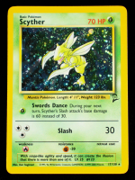 Scyther 2000 Pokemon Base 2 Unlimited #17 Holo at PristineAuction.com