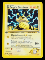 Lt. Surge's Electabuzz 2000 Pokemon Gym Heroes 1st Edition #6 Holo at PristineAuction.com