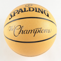 Jerry West Signed Spalding The Champions Logo Basketball (PSA COA) at PristineAuction.com
