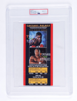 Mike Tyson Signed 1990 Caesars Palace Fight Ticket (PSA Encapsulated) at PristineAuction.com