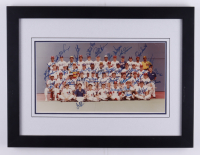 1982 National League All-Star Team Signed 15x19 Custom Framed Photo Display Signed by (35) with Ozzie Smith, Phil Niekro, Duke Snider, Tim Raines (Beckett LOA) (See Description) at PristineAuction.com