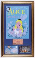 "Disneyland's ""Alice in Wonderland"" 16x27 Print Display with Vintage 'B' Ride Ticket, Vintage Postcard, & Photo Portfolio at PristineAuction.com"