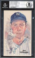 Joe DiMaggio Signed LE 1980-02 Perez-Steele Hall of Fame Postcards #75 (BGS Encapsulated) at PristineAuction.com