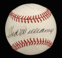 Ted Williams & Carlton Fisk Signed OL Baseball (Beckett LOA) (See Description) at PristineAuction.com