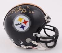 "John Stallworth Signed Steelers Mini Helmet Inscribed ""HOF 02"" (Beckett COA) at PristineAuction.com"