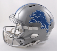 """Billy Sims Signed Lions Full-Size Speed Helmet Inscribed """"80-R.O.Y"""" (Beckett Hologram) at PristineAuction.com"""
