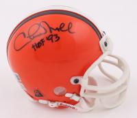 "Chuck Noll Signed Browns Mini Helmet Inscribed ""HOF '93"" (Beckett COA) (See Description) at PristineAuction.com"