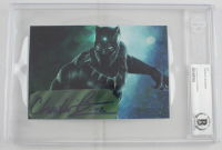 """Chadwick Boseman Signed """"Black Panther"""" 4x6 Cut (BGS Encapsulated) at PristineAuction.com"""