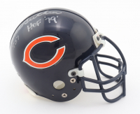 """Dick Butkus, Mike Ditka & Gale Sayers Signed Bears Mini Helmet Inscribed """"HOF 79"""" & """"H.O.F. 88"""" (Beckett LOA) (See Description) at PristineAuction.com"""