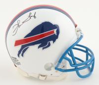 Thurman Thomas Signed Bills Mini Helmet (Playball Ink Hologram) at PristineAuction.com